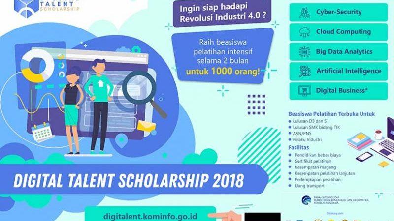 Pendaftaran 1.000 Beasiswa Pelatihan Digital Kominfo